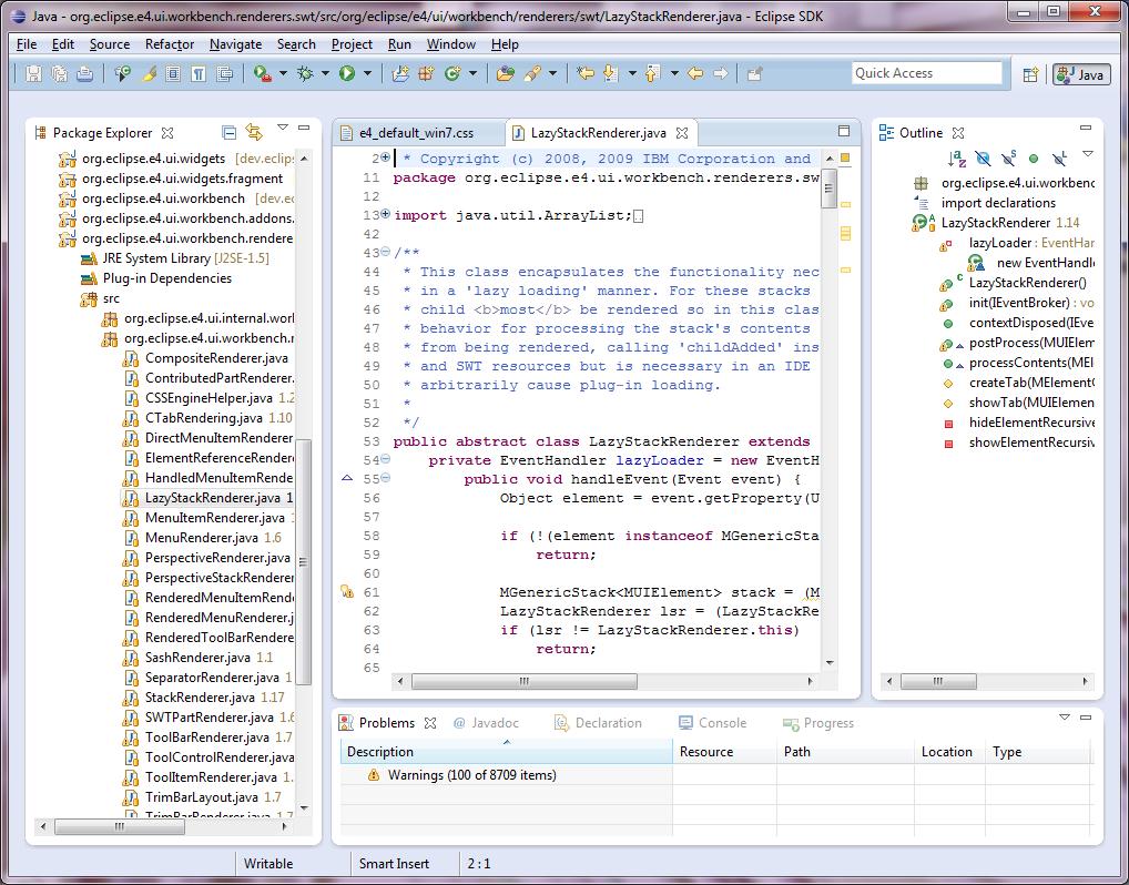 Eclipse4.0的新特性(可下载)