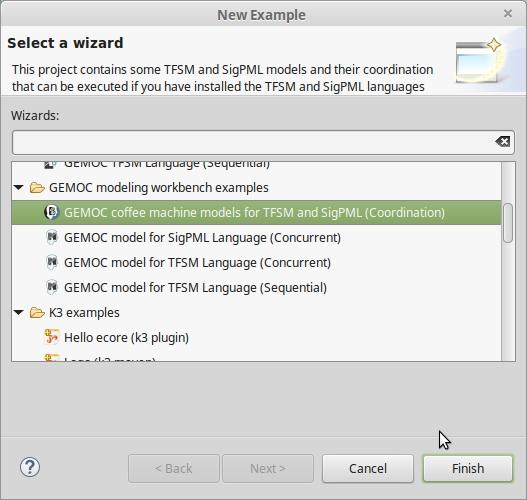 Coordinate models - - GEMOC Studio Documentation
