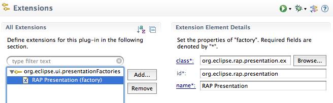 PresentationFactory Extensions