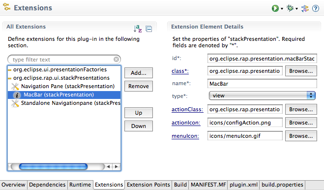 StackPresentation Extension