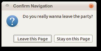 Exit confirmation dialog